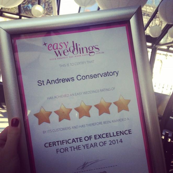 Easy Weddings Certificate 2014